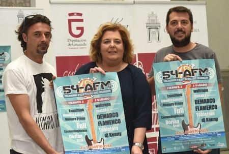 La Diputada de Cultura, Fatima Gómez ha presentado el Festival de ALhama (R. MARTÍNEZ / DIPGRA)
