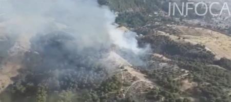 El Infoca trabaja en el incendio del Sacromonte (INFOCA)
