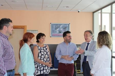 Momento de la visita del Delegado de Salud al Centro de Salud de Maracena (AYTO. MARACENA)