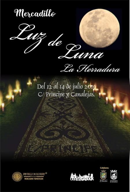 Cartel del Mercadillo Luz de Luna de La Herradura (AYTO. ALMUÑÉCAR)