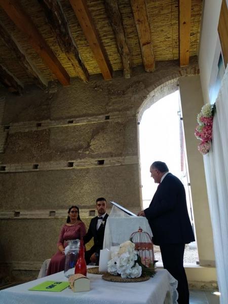 Boda celebrada en la Torre de la Alquería de Huétor Tájar (AYTO. HUÉTOR TÁJAR)