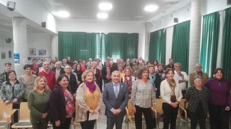 Antonio Jesús Castillo ha acudido al homenaje de las personas mayores voluntarias (LA CAIXA)