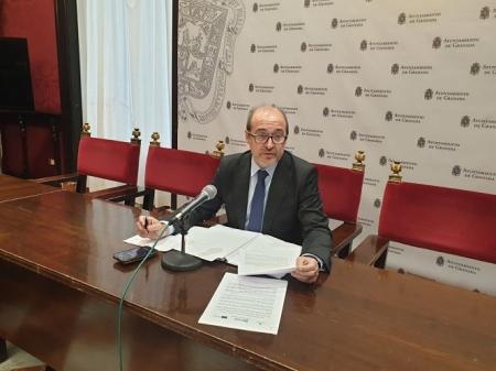 José María Corpas en rueda de prensa (PSOE)