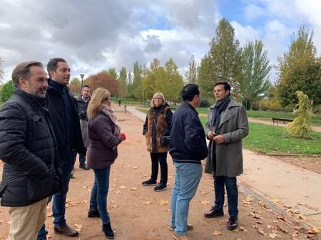 Visita del Grupo Municipal Socialista al Parque Tico Medina (PSOE GRANADA)