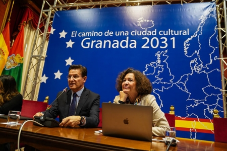 El Alcalde de Granada junto a la rectora de la UGR (AYTO. GRANADA)