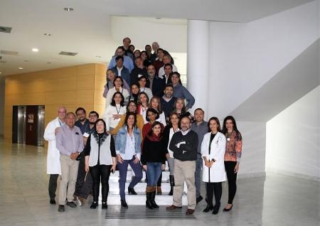 Visita de los profesionales chilenos (HUSC)