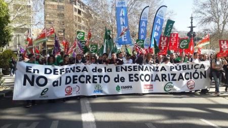 Concentración en defensa de la Enseñanza Pública (CCOO)