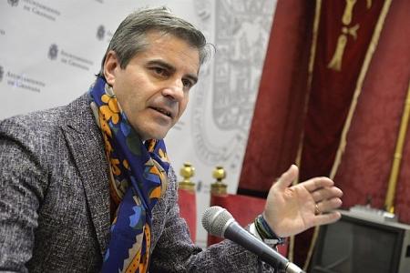 El concejal de Seguridad César Díaz en imagen de archivo en una rueda de prensa (AYUNTAMIENTO/ARCHIVO)
