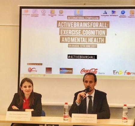 En la imagen, los investigadores de la UGR Irene Esteban-Cornejo y Francisco B. Ortega Porcel, ganadores de este premio (UGR)