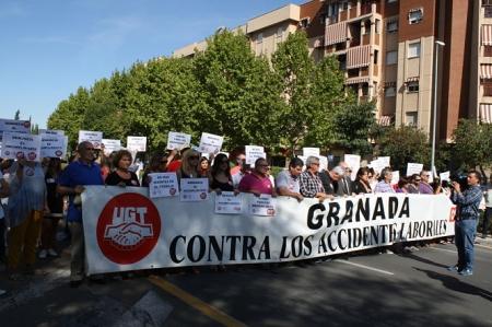 Concentración de UGT contra los accidentes laborales (UGT/ARCHIVO)