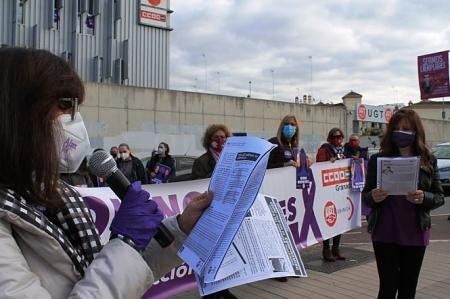 Lectura del manifiesto de los sindicatos (CCOO)