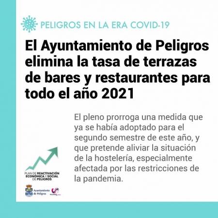 El Ayuntamiento de Peligros suprime la tasa, de terrazas durante el próximo año (AYUNTAMIENTO PELIGROS)