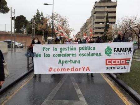 Imagen de la manifestación (CCOO)