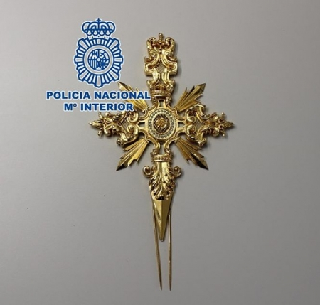 Imagen de la daga recuperada (POLICIA NACIONAL)