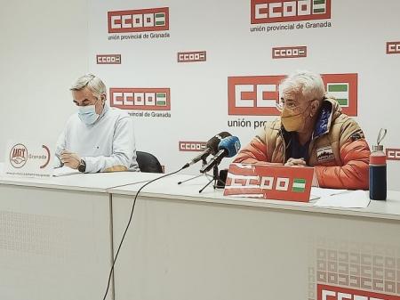 Rueda de prensa conjunta de CCOO y UGT (CCOO)