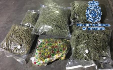 Imagen de la marihuana incautada (POLICIA NACIONAL)