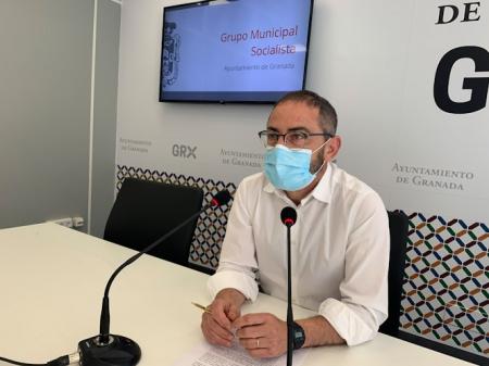 El Concejal del PSOE en el Ayuntamiento de Granada, Miguel Ángel Fernández Madrid (PSOE)